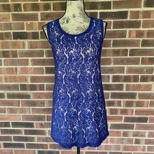 Francesca's lace tunic sleeveless top